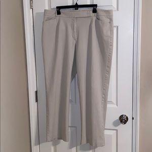 Talbots Heritage Straight Leg Khaki Pants 18W